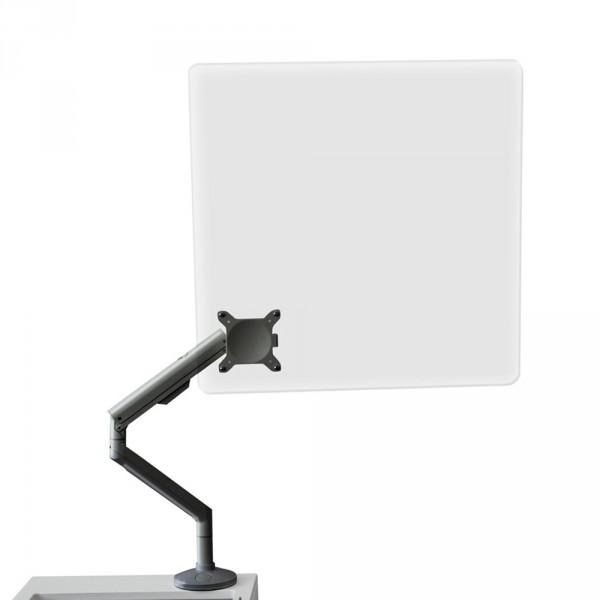 Plexiglas preventiescherm voor behandelstoelen, zilver