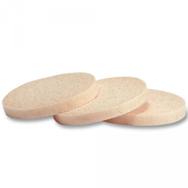 viscose make-up spons, rond, apricot