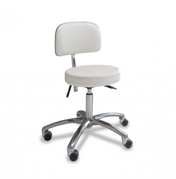 Werkstoel met ronde zitting