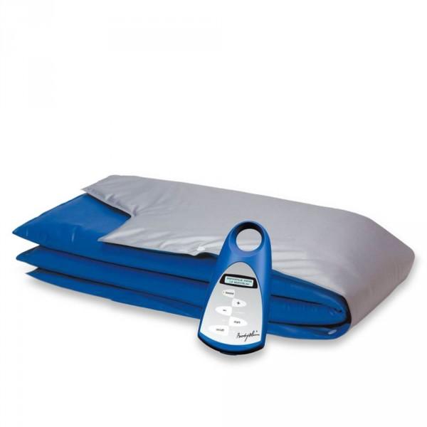 Dieptewarmte-apparaat BODY-SLIM met drie-zonebandage zilver/blauw