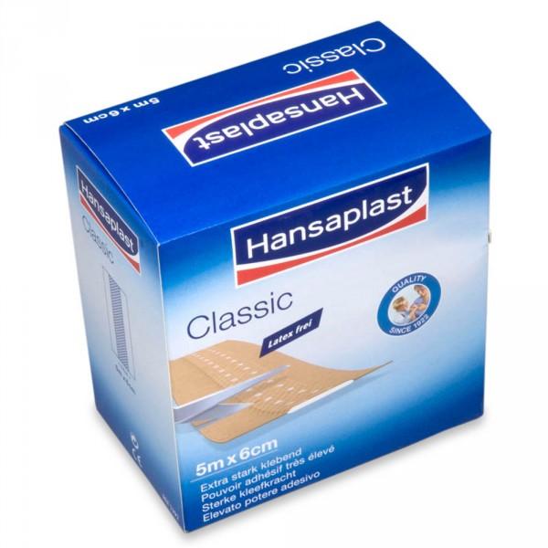 Hansaplast Classic, 5 m x 6 cm
