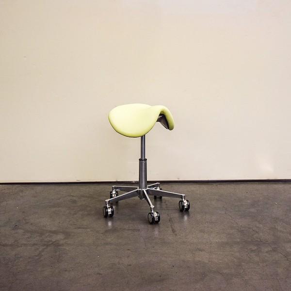 Sattelsitz-Hocker anat. Small, o.Floating, kleiner Chromfuß, Neuware DH8