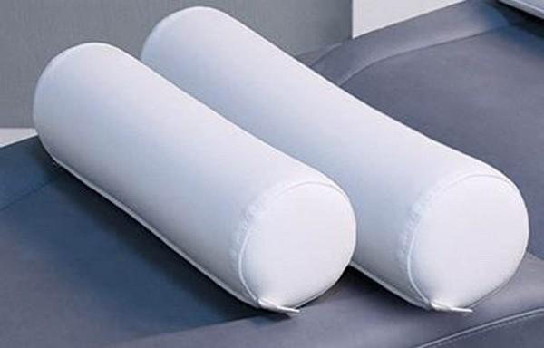 Ronde nekrol, 60cm, wit