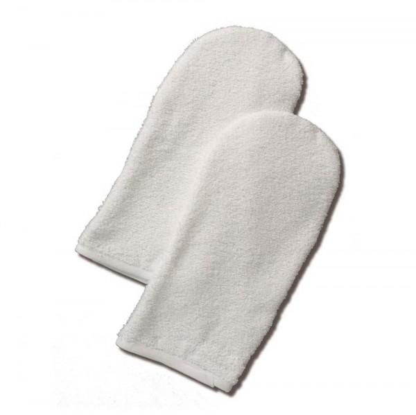 badstof handschoenen, paar, wit, ca. 27x14cm
