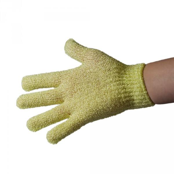 peelinghandschoen uit synthetische vezels