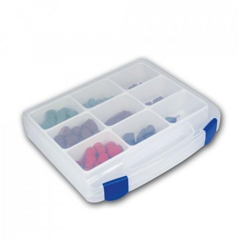 Koffer voor kleine onderdelen, 9 compartimenten