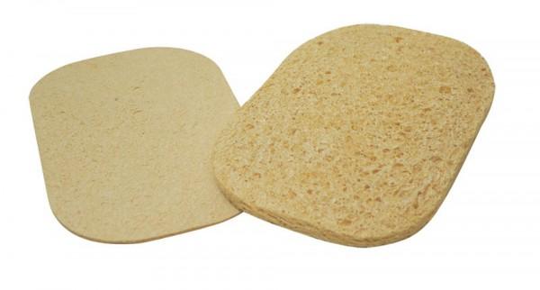 Geperste spons, ovaal, wit, 5,72 x 8,3 cm