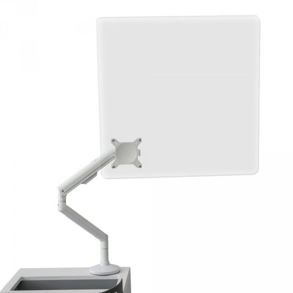 Plexiglas preventiescherm voor behandelstoelen, wit