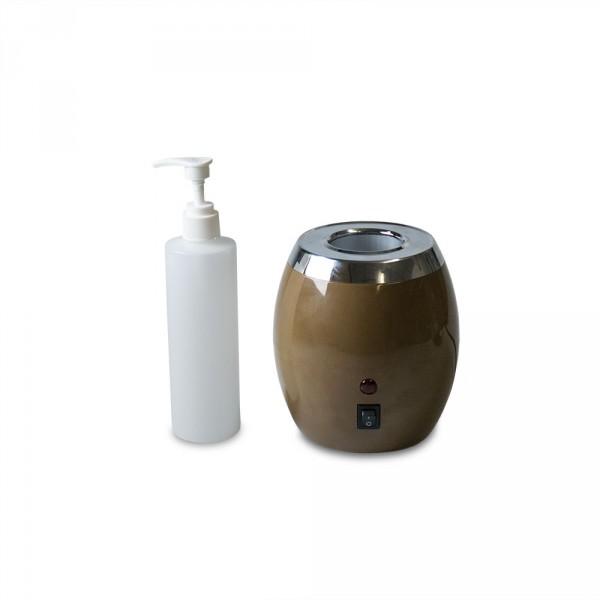 Olieflessenwarmer, inclusief een fles
