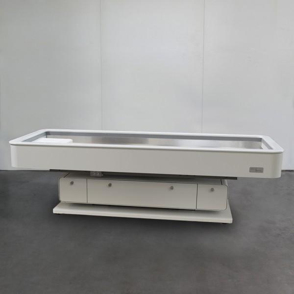 MLX Quarz Round, in Weiß, DF System, Naturquarz, Ausstellungsstück 504