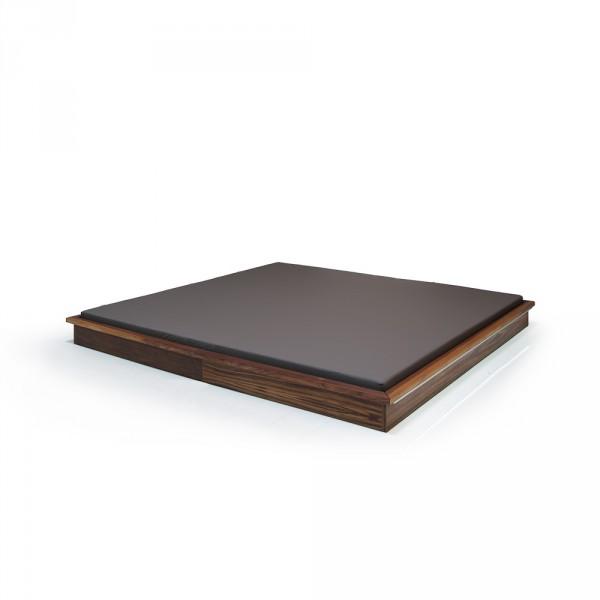 Shiatsu-mat met notenhouten kader