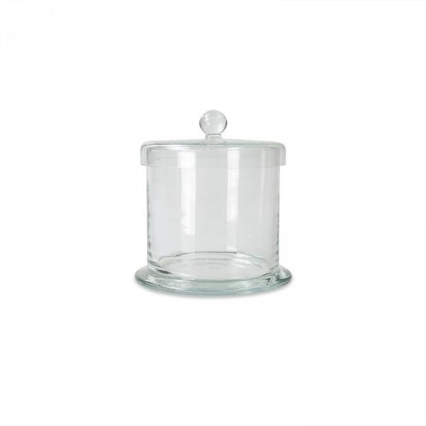 wattenpot met deksel, glas