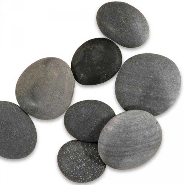 8 middelgrote basaltstenen, 6x8cm