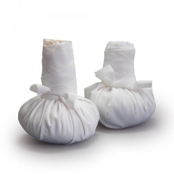 Zandstempels paar middel (elk ca. 320 g), incl. beschermhoesset (met PU-coating)