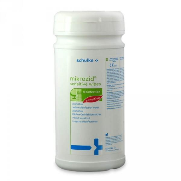 Mikrozid Sensitive desinfectiedoekjes + box, 200 stuks
